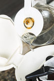 Water being poured into Coffee Maker Royalty Free Stock Images