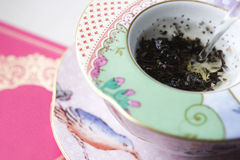 Water being poured into a tea cup Royalty Free Stock Images