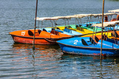 Water bicycles Stock Image