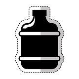 Water big bottle isolated icon Royalty Free Stock Photography