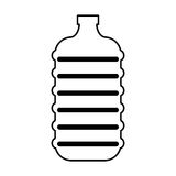 Water big bottle isolated icon Stock Images