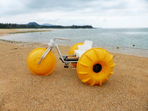Water Bike on the beach, Onna, Okinawa. Water bike on the beach in Onna, Okinawa Prefecture royalty free stock photo