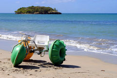 Water bike on Halcyon Beach. In St Lucia Royalty Free Stock Image