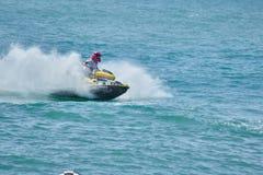 Water Biker Action Stock Image