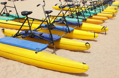 Water bikes Royalty Free Stock Photography