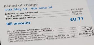 Water Bill Stock Photos