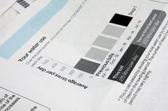 Water bill Stock Images