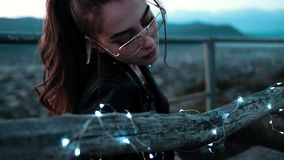 Water, Black Hair, Sunglasses, Girl Royalty Free Stock Photography