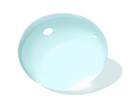 Water blob. Vector image of water  rainy blob on the surface Stock Images