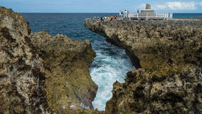 Water blow at Bali. BALI, INDONESIA - 16TH JUNE 2015; Water blow at Bali, Indonesia. Nusa Dua is known as an enclave of large 5-star resorts in southern part of Stock Photography