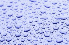 Water Blue Drops Royalty Free Stock Image