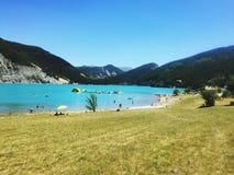 Beach castillon lake Royalty Free Stock Image