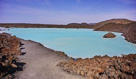 Water of the blue lagoon spa in iceland Stock Photo