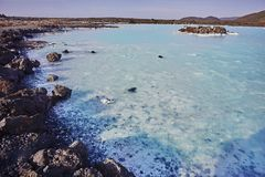 Water of the blue lagoon spa in iceland Royalty Free Stock Image