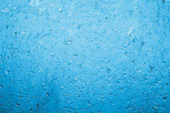 Blue water background. Water on blue light for background Royalty Free Stock Images