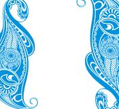 Water blue paisley Royalty Free Stock Photography