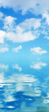 Water and blue sky  - background Royalty Free Stock Images