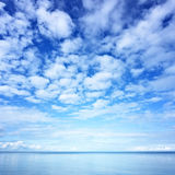 Water and sky. Water and blue sky photo Royalty Free Stock Photos