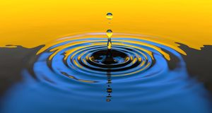 Water, Blue, Yellow, Drop Stock Photography