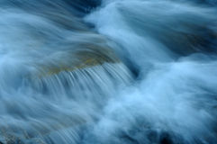 Water blur. Water running over rocks at dusk Stock Image