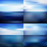Water blurred background set Stock Images