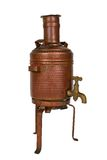 Water boiler. Ancient brass water boiler with clipping path Royalty Free Stock Images