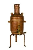 Water boiler. Ancient brass water boiler with clipping path Royalty Free Stock Photography