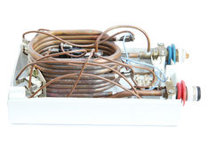 Water boiler coil  Royalty Free Stock Photography