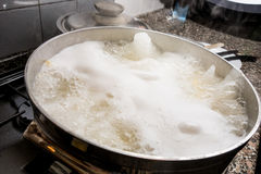Water boiling for pasta Royalty Free Stock Photos