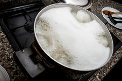 Water boiling for pasta Royalty Free Stock Images