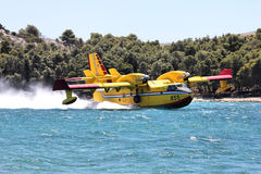 Water bomber aircraft Stock Image