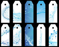 Water bookmarks set Royalty Free Stock Photos