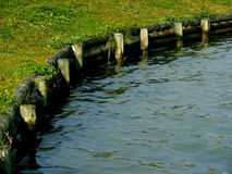 Water Border. Border between land and water Royalty Free Stock Image