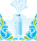 Water bottle. Banner template design vector illustration