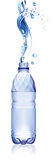 Water bottle. All elements and textures are individual objects. Vector illustration scale to any size Royalty Free Stock Image
