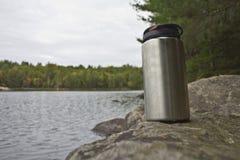Water Bottle. A stainless steel water bottle Stock Photo