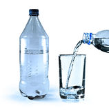 Water in bottle Stock Image