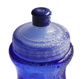Water Bottle. A close-up of water bottle with dispenser. and many drops in their superficie Royalty Free Stock Images