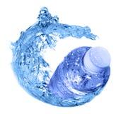 Water bottle. Plastic bottle in water swirl Royalty Free Stock Photos