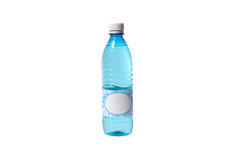 Water bottle with blank label Royalty Free Stock Image