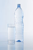 Water Bottle on Blue Stock Images