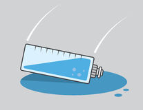 Water Bottle Drop Spill Stock Photo