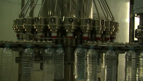 Water_bottle in factory stock video footage
