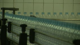 Water_bottle in factory stock footage