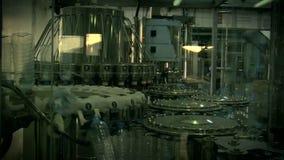 Water_bottle in factory stock video
