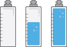 Water Bottle Fills royalty free illustration