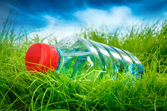 Water bottle on the grass. Stock Photography
