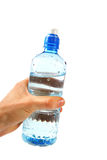 Water bottle in the hand Royalty Free Stock Photo