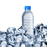 Water Bottle and Ice Cubes Royalty Free Stock Photo