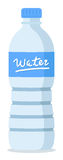 Water bottle. Plastic recycled blue water bottle Royalty Free Stock Image